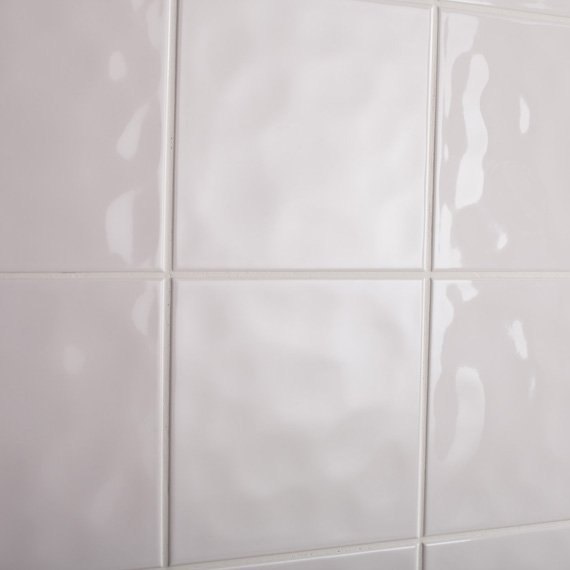 Johnson Tiles Intro Collection Cristal White Bumpy Gloss