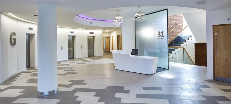 Johnson Tiles For This Sleek New Office Building In