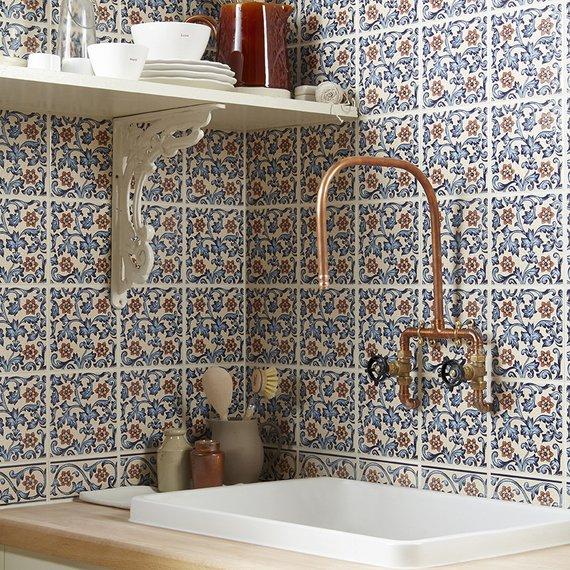 Johnson Kitchen Wall Tiles: Minton Hollins Collection