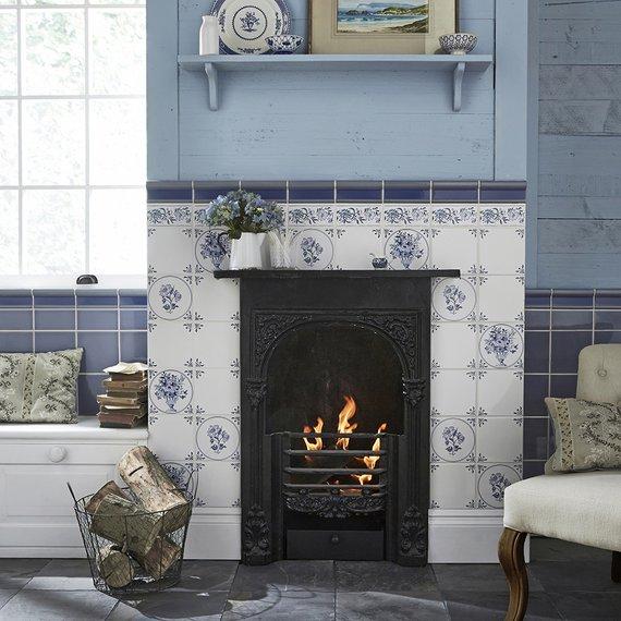 Johnson Tiles Minton Hollins, Delft Fireplace Tiles