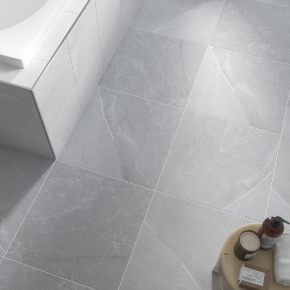 Johnson Tiles Intro Collection Melford Marble Light