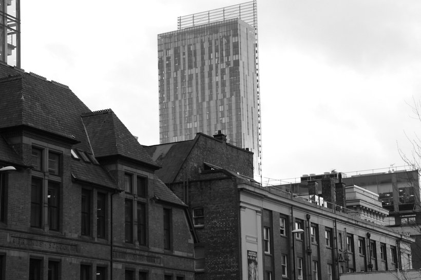 Beetham Tower dominates the skyline