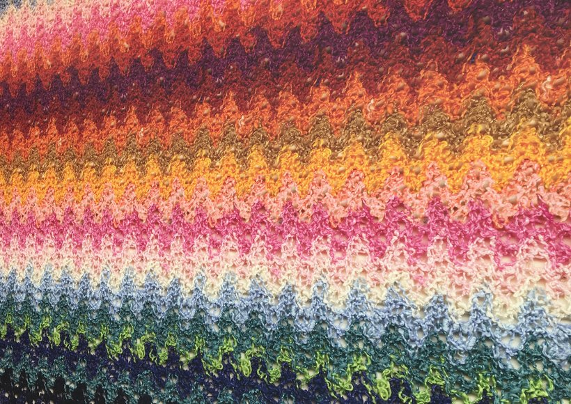 Colourful weave pattern