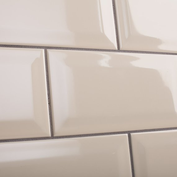 Johnson Tiles Intro Collection Bevel Brick Cream Gloss