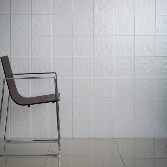 Johnson Tiles — Intro Collection — Polar White Bumpy Gloss
