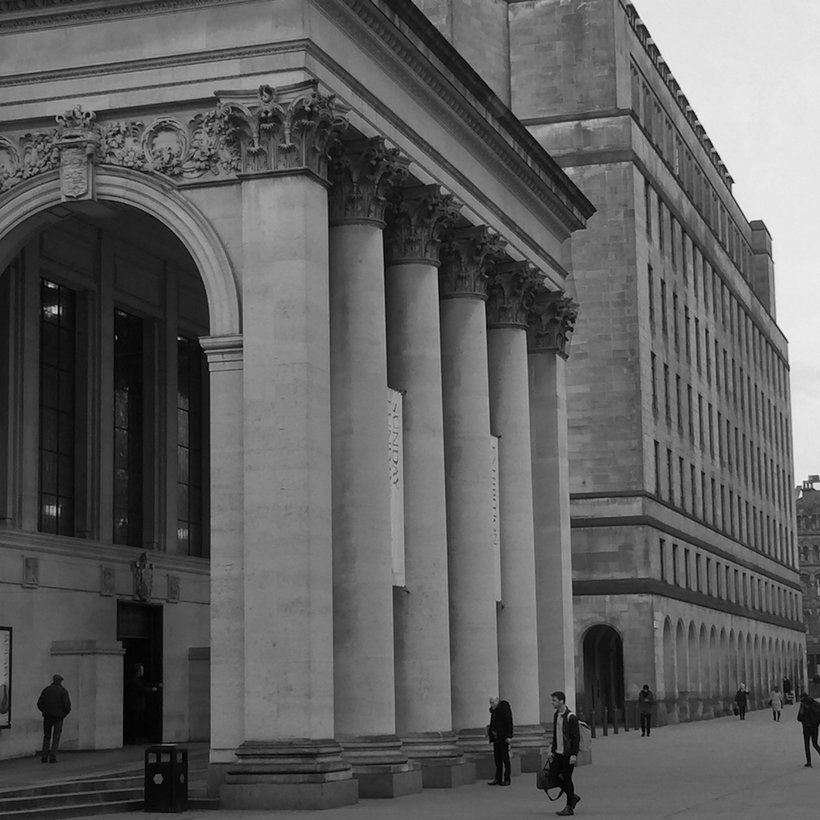 Arches outside Manchester Central Library