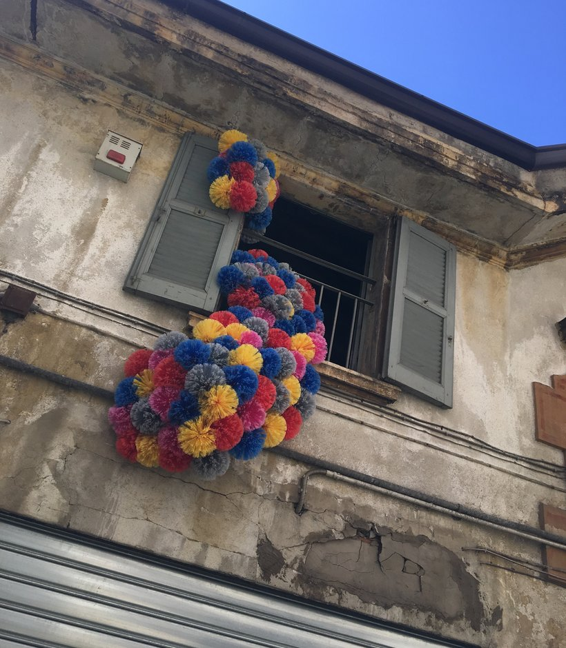 Colourful installation spotted at Brera District, Milan