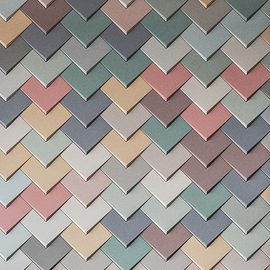 Abstract, Pastel Mix Chevron