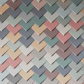Abstract - Pastel Mix - Chevron