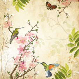 Minton Hollins Craft, Cream Background Blossom