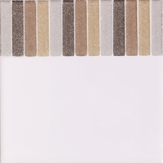 Cristal, Beige Stripe Border (150mm x 150mm)