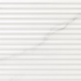 Glide, White Carrara Linear Structure