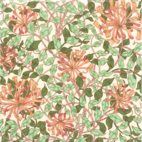 William Morris, Honeysuckle Field (150mm x 150mm)