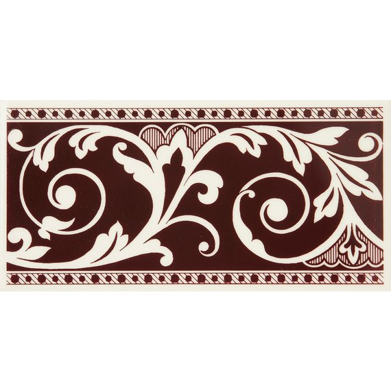 Louise, Maroon Border (150mm x 75mm)