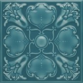 Roker, Teal Ripple Embossed Field