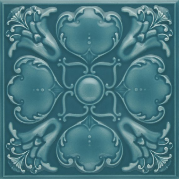 Roker, Teal Ripple Embossed Field (150mm x 150mm)