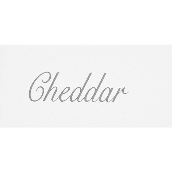 Script, Cheese White (150mm x 75mm)