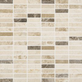 Natural Mosaics, Brown & Beige Rectangular
