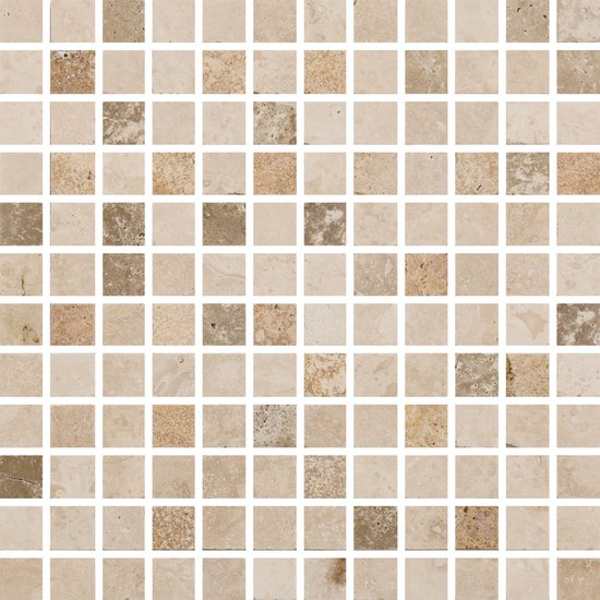 Natural Mosaics Mixed Square Natural