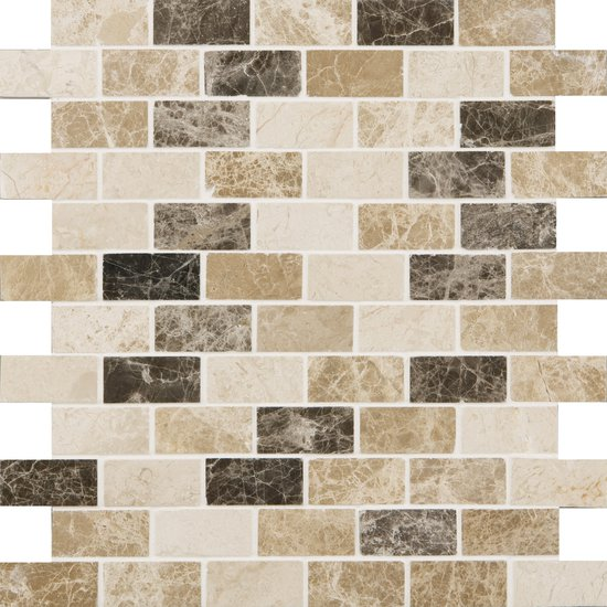 Natural Mosaics Light & Dark Brick Polished
