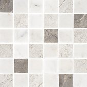 Natural Mosaics, Silver Mix Square