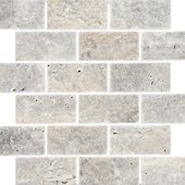 Natural Mosaics, Silver Travertine Brick
