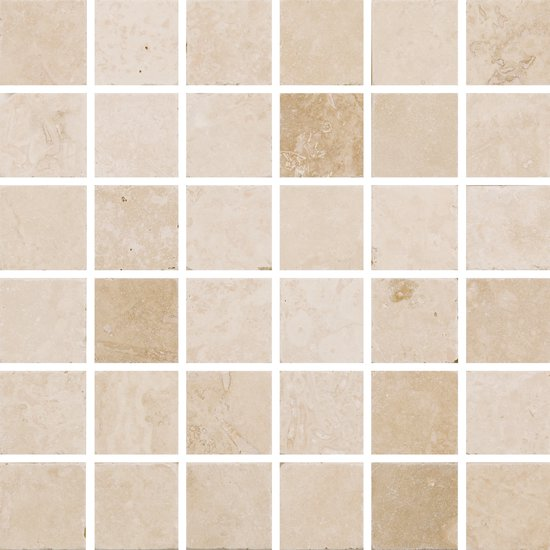 Natural Mosaics White Square Natural